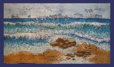 batik su cotone - quadro dipinto a mano