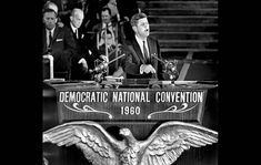 July 13, 1960: Kennedy supporters on the floor of the Los Angeles Sports Arena at the Democratic National Convention. Description from framework.latimes.com. I searched for this on bing.com/images