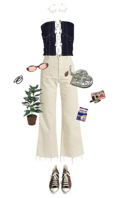 """""""safety first"""" by ninaaaquino ❤ liked on Polyvore featuring Converse, Rachel Comey, Gucci, Louis Vuitton, Christian Dior, Virgins Saints & Angels and Goody"""