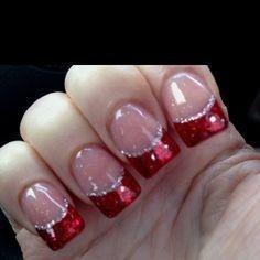 Xmas Nails, Prom Nails, Holiday Nails, Red Christmas Nails, Wedding Nails, Valentine Nails, Wedding Art, Red Wedding, Halloween Nails