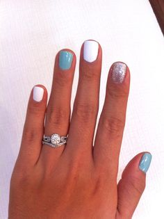 This week's summer nail fun. The blue is one of my favorite colors in the history of ever! - Jessica Surfer Boyz' N Berry