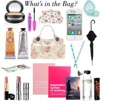 """What's in MY bag?"" by amberpolyvore ❤ liked on Polyvore"