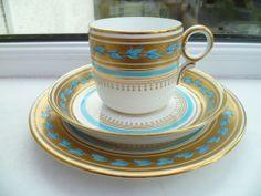 Vintage / Antique Davenport Porcelain / China Trio Tea Cup Saucer Plate 4174