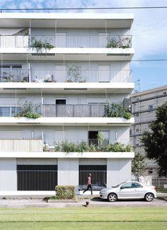 Atelier O-S Architectes - Apartment building, Nantes 2016. Photos © Cyrille Weiner. [[MORE]]