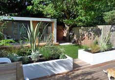 clapham and balham modern garden design decking planting artificial lawn grass hardwood privacy screen indoor outdoor space (1)