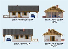 DOM.PL™ - Projekt domu PT AWINION dom letniskowy szkielet drewniany CE - DOM PD18-49 - gotowy koszt budowy Home Fashion, Cabin, House Styles, Home Decor, Decoration Home, Room Decor, Cabins, Cottage, Home Interior Design