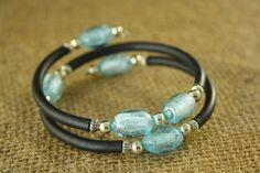 Beaded Memory Wire Bracelet by jambangles on Etsy, $8.00