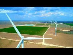 unique, interesting view of our wind farm. Future Energy, Carbon Footprint, Renewable Energy, Wind Turbine, Planets, Tech, Unique, Technology, Plants