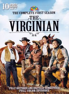 The Virginian is an American Western television series starring James Drury and Doug McClure, which aired on NBC from 1962 to 1971 for a total of Hd Movies, Movies And Tv Shows, Movie Tv, Films, Tv Vintage, Vintage Posters, James Drury, Roman, Nbc Tv
