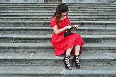 Little Red Dress & Lace Up Heels Dress Lace, Lace Skirt, Little Red Dress, Lace Up Heels, Lifestyle Blog, My Style, Skirts, Outfits, Beauty