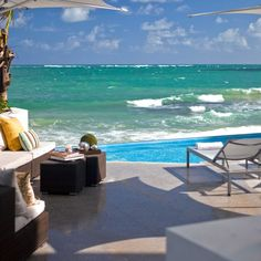 La Concha Resort—San Juan, Puerto Rico.   Not my pic, but this is the view from the pool in our suite tower <3