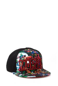Marvel Comics Snapback Hat | 21 MEN #Accessories #Hat #Marvel. I want this.