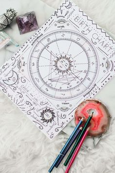 While I was browsing I found layouts inspired by astrology and zodiac. Here is a round-up of astrology and zodiac inspired bullet journal layout ideas. Journal D'inspiration, Bullet Journal Layout, Bullet Journal Inspiration, Journals, Astrology Chart, Astrology Zodiac, Astrology Signs, Astrology Houses, Astrology Websites