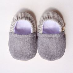 VERIFY SIZE before ordering - Chambray Gray Booties by MoccsByRobin on Etsy