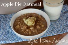 Apple Pie Oatmeal from Lynn's Kitchen Adventures.