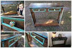 Did you ever want to build your hall table from recycled pallet wood? Here is a nice video tutorial done by Uncle Knackers that will show you how to make a hall table quickly with no money. The hall stand is… Old Pallets, Recycled Pallets, Wooden Pallets, Pallet Wood, Pallet Fence, Pallet Bar, Outdoor Pallet, Patio Bar Set, Pub Table Sets