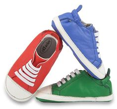 A top pick from Old Soles' buyers: The athletic lace-up pre and first walker, Eazy Tread, in equally sporty, vibrant hues of red, green, blue (sized 17 - 24). www.oldsoles.com.au