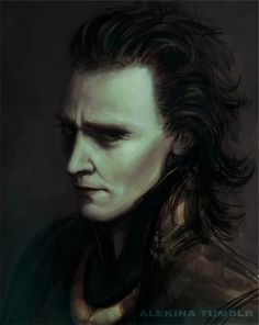 I always thought Tom Hiddleston's Loki looked like he could front a goth band. This lovely fan art supports that opinion. xD