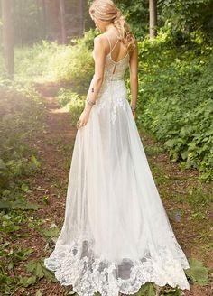 perfect beach style Ti Adora wedding dress
