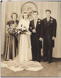 Vintage Wedding Photo