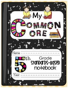 My Common Core Fourth Grade Standards-Based Notebook just in case I go back up Data Binders, Data Notebooks, Interactive Notebooks, Math Journals, Common Core Reading, Common Core Math, Common Core Standards, 3rd Grade Math, Fifth Grade
