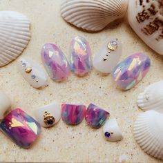 A contemporary manicure is an ideal means so as to add one thing additional to your outfit. Winter Nails, Summer Nails, Love Nails, Pretty Nails, Diy Unicorn, Kawaii Nails, Japanese Nail Art, Mermaid Nails, Feet Nails
