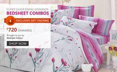 Super Saver Diwali Bonanza Bedsheets Combos starts from Rs 720 onwards @Tradus Shopping