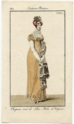 Natalie Garbett - Maker of Historical Clothing and Costumes (Fichu): Blinded By the White, Colour and Dresses 1796-1815
