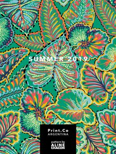 Verao 2019 - PrintCo Argentina on Behance Textile Pattern Design, Surface Pattern Design, Textile Patterns, Tropical Design, Tropical Pattern, Wall Patterns, Print Patterns, E Design, Print Design