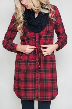 I'm Not Plaid About it Tunic Dress