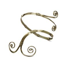 Wire Wrap Spiral Armband by Hyppiechic on Etsy, $30.00