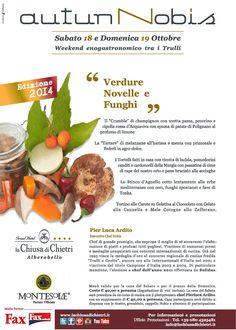 """Menu """"Verdure novelle e funghi della Murgia"""""""