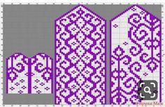 Knitted Mittens Pattern, Crochet Gloves, Knit Mittens, Knitting Socks, Knitting Charts, Knitting Stitches, Knitting Patterns, Yarn Projects, Knitting Projects
