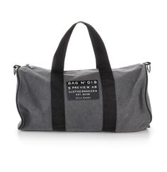5PREVIEW AW2012/13: Canvas sports bag with patch