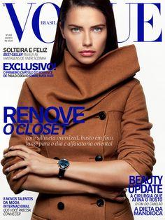 Adriana Lima for Vogue Brazil August 2016 Cover - Dior Fall 2016