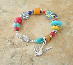 NEW Boho Bracelet Colorful Chunky Stone Bracelet by BohoStyleMe