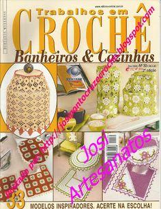 Josi Artesanatos: Trabalhos em Crochê Banheiros e Cozinhas Nº 31