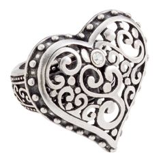 Heart Tendril Heart-Silver Ring  https://myfashions.graceadele.us/GraceAdele/Buy/ProductDetails/21655