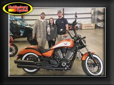 Thanks to Turner, Prince and Amanda McGaugh, and Dillon Russell from Greenville MS for getting a 2017 Victory HighBall. @HattiesburgCycles