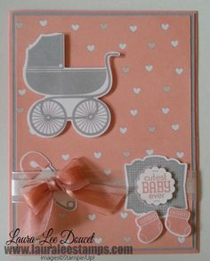 Stampin' Up! sneak peek: avail in June. Something for Baby. This stamp set comes with the matching framelits. How fun is that?!  www.lauraleestamps.com