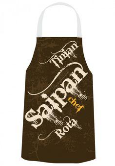 Gerard Aflague Collection Store - Chef's Apron - Saipan Rota Tinian Design - Brown Grunge, $22.99 (http://www.gerardaflaguecollection.com/chefs-apron-saipan-rota-tinian-design-brown-grunge/)