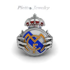 Items similar to Real Madrid Jewelry Fashion Unique Gold Plated Ring on Etsy Real Madrid Logo, Real Madrid Players, Real Madrid Football, Logo Real, Imagenes Real Madrid, Real Madrid Wallpapers, Santiago Bernabeu, Golf Stores, James Rodriguez
