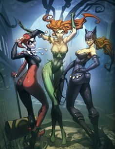 Harley, Ivy and Catwoman