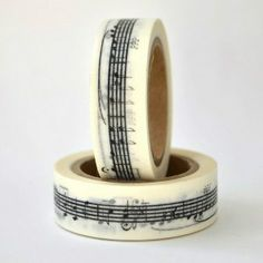 Washi Tape notas musicales