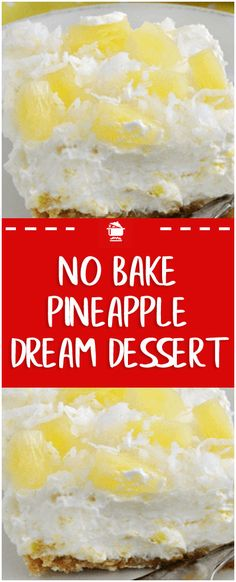 cool, creamy no-bake vintage dessert that's easy to make and perfect for summer! Servings: 12 Calories: 275 kcal Ingredients: 1 package cream cheese (softened) 1 cup powdered sugar 1 cup crushed pineapple (drained) 1 tub whipped topping, like Cool Fluff Desserts, Whipped Cream Desserts, Cool Whip Desserts, Cream Cheese Desserts, Köstliche Desserts, Delicious Desserts, Whipped Topping, Cream Cheese Pie, Whipped Cream Cheese