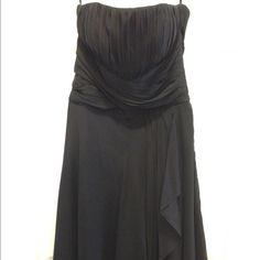 NWOT White House Black Market Silk Dress Strapless silk dress in black. Never worn. Beautiful! Perfect for any formal event. White House Black Market Dresses