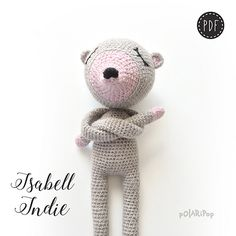 The NONOs • Isabell Indie • Amigurumi Doll Mouse • Crochet pattern by Polaripop