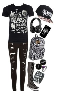 """""""Untitled #312"""" by f-stark ❤ liked on Polyvore featuring River Island, Converse, Loungefly and Humör"""
