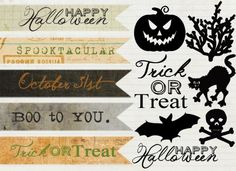 17 adorable free tag Halloween Printables. I really like these, but may have to change the orange to purple to go with my theme better