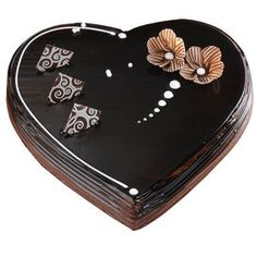 Order Online Choco Scotch Eggless Heart Cakes In Friend Knead Cake Shop Coimbatore Having